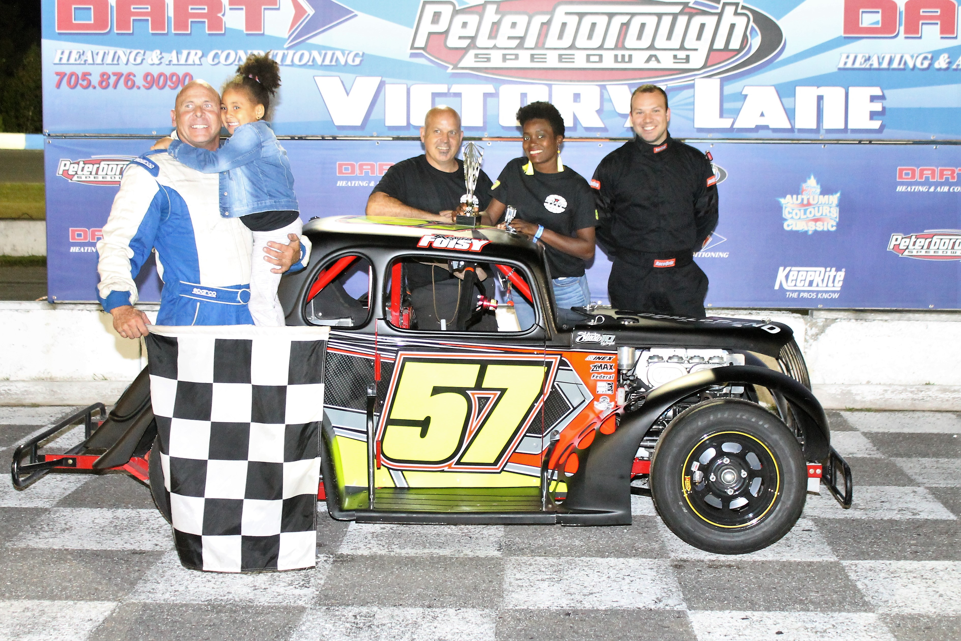 Foisy Pockets the Ontario Legends Payday at Peterborough